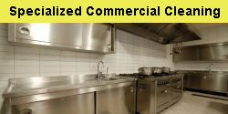 Specialized Commercial Cleaning, graffitti removal, special event cleaning, food area cleaning, outdoor maintenance